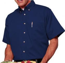 Men's Short Sleeve Treated Twill