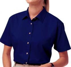 Ladies' Short Sleeve Treated Twill