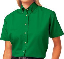 **BEST VALUE**        Ladies Short Sleeve Cotton Twill Shirt