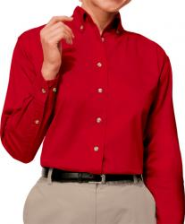 Ladies Long Sleeve Cotton Twill Shirt